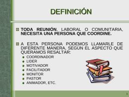 coordinador - Parroquia del Espíritu Santo y Santa María de