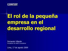 Rol de la pequeña empresa en el desarrollo regional