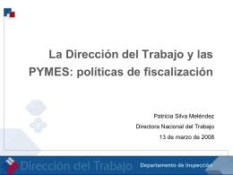 políticas de fiscalización