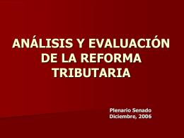 ANALISIS DEL PAQUETE DE REFORMA TRIBUTARIA