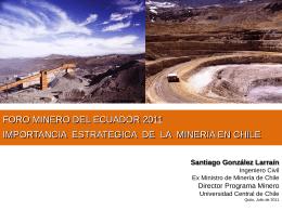 CHILE PAIS LIDER EN LA MINERIA MUNDIAL