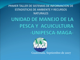 UNIPESCA ESTADISTICA 27 sept
