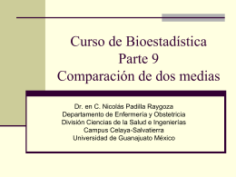Biostatistics course Part 9 Comparison between two means in Spanish