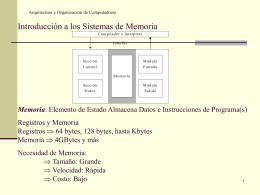 Arquitectura y Organización de Computadores