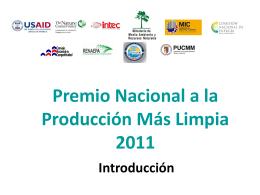 Producción Más Limpia - Ministerio de Medio Ambiente y Recursos