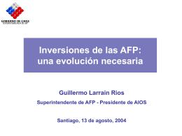 La Visión del Regulador -Larraín - (FIAP) Federación Internacional