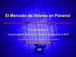 El Mercado de Valores en Panama - PLOT