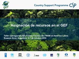 Asignación de recursos en el GEF (4)