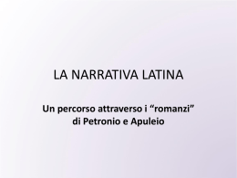 La narrativa latina e Petronio