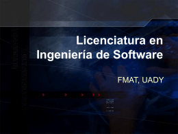 Licenciatura en Ingeniería de Software