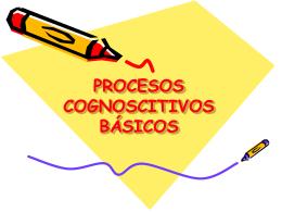 PROCESOS COGNOCITIVOS BASICOS