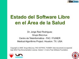 Estado del Software Libre en el Área de la Salud