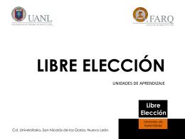 Libre Elección - Facultad de Arquitectura
