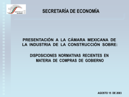 Tratados de libre comercio - Cámara Mexicana de la Industria de la