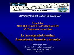 CURSO LIBRE METODOLOGÍA DE LA INVESTIGACIÓN XV