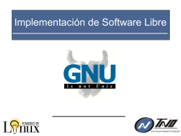 Implementación de Software Libre