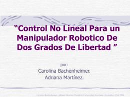 """Control por Variables de Estado libre de """"Chattering"""" para la"""