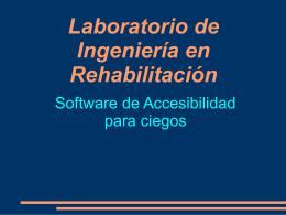 Software libre para personas ciegas o con disminución visual