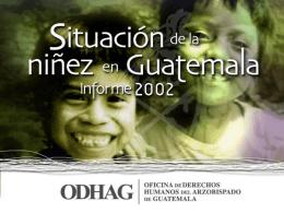 Contenidos del Informe de Niñez 2002