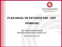 PRESENTACIÓN PAE 2007