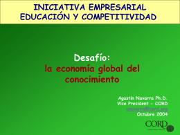 Educacion para la economia global del conocimiento