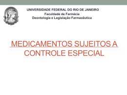 Medicamentos Sujeitos a Controle Especial 2014