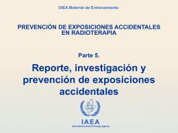 Prevención de exposiciones accidentales