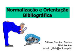 Normalização e Orientação Bibliográfica (NOB)