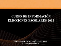 Presentación Elecciones Escolares 2015 (Power Point)