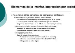 Elementos de la Interfaz