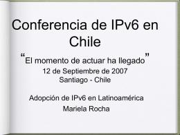 Adopción de IPv6 en Latinoamérica