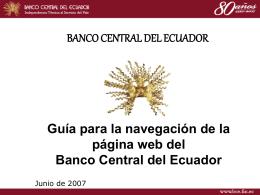 Guía de navegación en web BCE