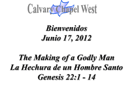Genesis 22:1-2 - Calvary Chapel West
