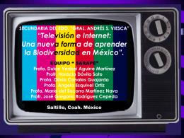 """""""Televisión e Internet: Una nueva forma de aprender la"""