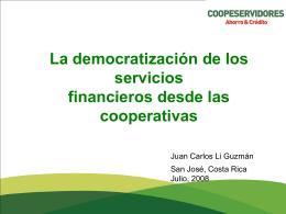 La democratización de los servicios financieros desde las