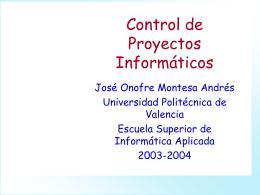 Control de Proyectos Informáticos