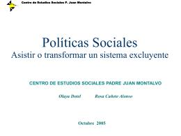 Debilidades históricas de la Política Social