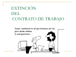 EXTINCIÓN DEL CONTRATO DE TRABAJO - Maria Madre