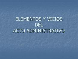 ELEMENTOS DEL ACTO ADMINISTRATIVO