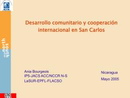 Desarrollo comunitario y cooperación - NCCR-NS