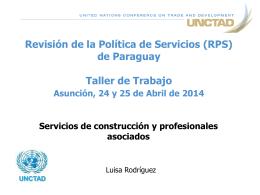 Sesión 5: Servicios de construcción y profesionales asociados