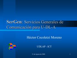 Presentación de Re-arranque - ICT