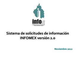 INFOMEX - Instituto de Acceso a la Información Pública y Protección