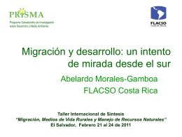Migración y desarrollo: un intento de mirada desde el sur