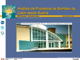 Análisis de Proyectos de Bombeo de Calor desde Suelos