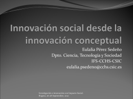 Innovación social desde la innovación conceptual