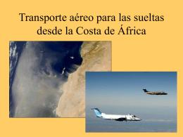 Transporte aéreo para las sueltas desde la Costa de África