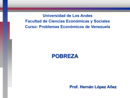 Pobreza - iies - faces - Universidad de Los Andes