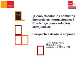 Presentación Arbitraje 3. Perspectiva desde la empresa