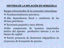 HISTORIA DE LA INFLACIÓN EN VENEZUELA - UCAB